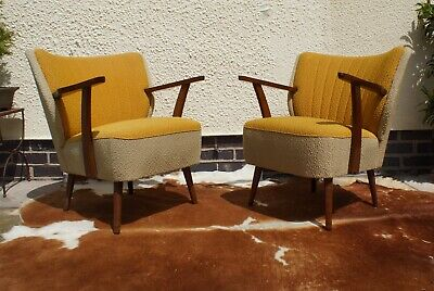 Pair Of Mid Century Vintage German  Armchairs / Chairs Great Condition Jun19-1