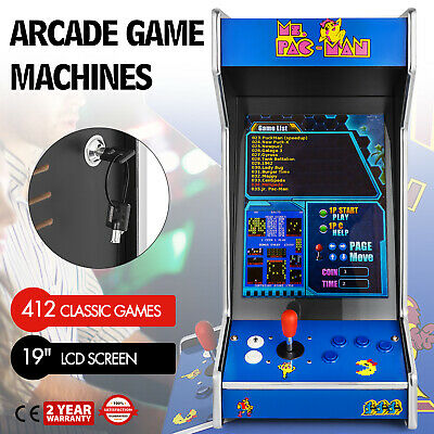 Ms. Pac-Man Upright Bartop/Tabletop Cocktail Arcade Machine W/ 412 Classic Games