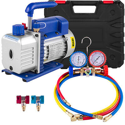 A/C Diagnostic Auto Car Tester Manifold Set (R134a), 1/4HP 4CFM Vacuum Pump Set