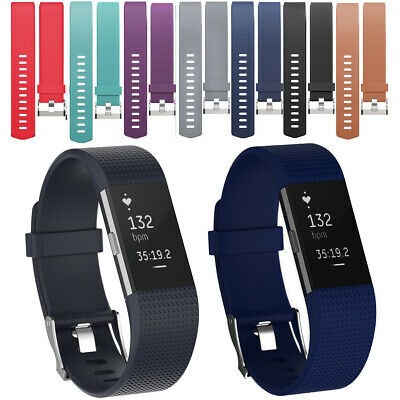 """For Fitbit Charge 2 Silicone Spare Wristband Watch Band Wrist Strap 5.5"""" to 8.2"""""""