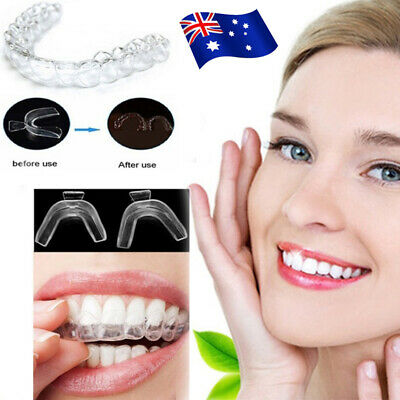 4x Silicone Night Mouth Guard for Teeth Clenching Grinding Dental Sleep Aid NEW