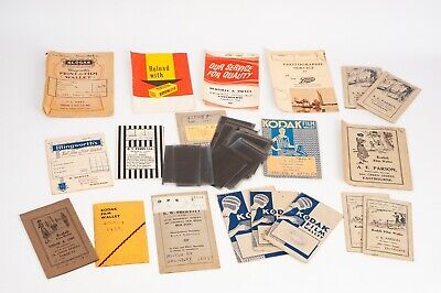 Collection of 19 Film wallets with negatives of family pictures circa 1930