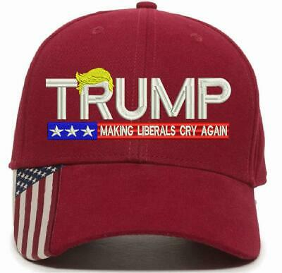 Donald Trump Make Liberals Cry Again Red USA 300 Adjustable Red 6 Pack for $90!