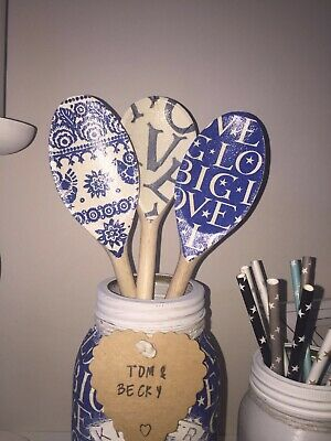 Emma Bridgewater Themed Set Of 3 Utensils - Grey Love, Big Love & Blue Hen