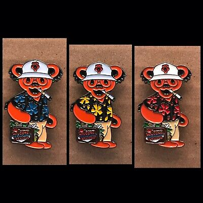 Grateful Dead Bear Hunter S. Thompson Lapel Pin Primary Pack.  Steal Your Face.
