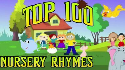 100 KIDS Childrens Singalong Songs - Favourite NURSERY RHYMES 2 X CDs