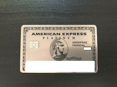 American Express Ameriprise Rare Metal Platinum Card Highly Collectable