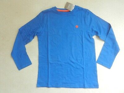 BNWT Boys Next Bright Blue Basic Long Sleeved T-Shirt Age 7 Years