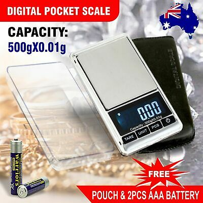 Digital Scales Jewellery Pocket Scale LCD Electronic milligram micro 500g 0.01g