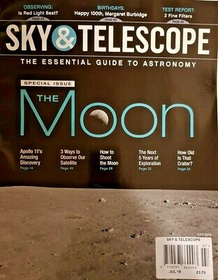 Sky And Telescope Magazine July 2019 = Guide To Astronomy = The Moon Special