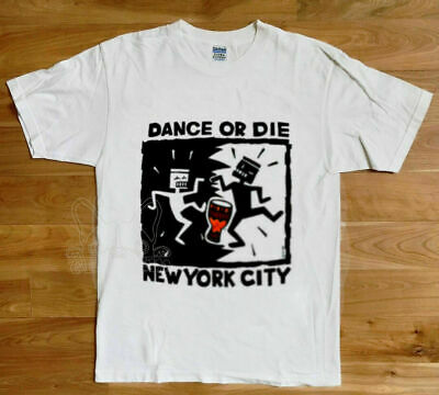 NEW!! KEITH HARING Vintage 90's Dance or Die NYC New York City T Shirt Reprint