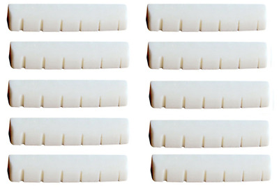 NEW 10 pcs Bone Nuts For Folk Acoustic Guitar 43x6x9mm Luthier 6-Strings