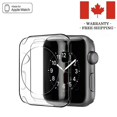 38mm 42mm Silicone Clear Case Cover Protector for Apple Watch Series 3 2 1
