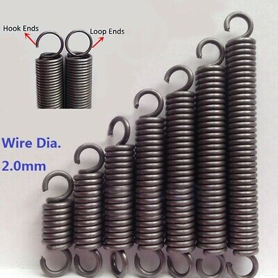 Wire Dia.2.0mm Expansion Extension Spring Extending Tension Spring OD 14mm-18mm