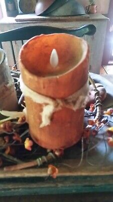"HAND POURED 5"" PUMPKIN PILLAR Judy Condon REMOTE/Timer!  Remote"