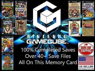 Unlocked GameCube Memory Card 40+ Save Files Complete GameCube Saves