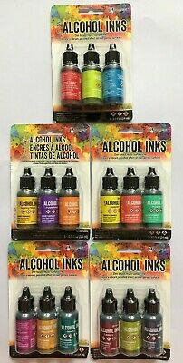 U CHOOSE Ranger Tim Holtz Alcohol Inks 3 packs - Dye based, multi-surface inks