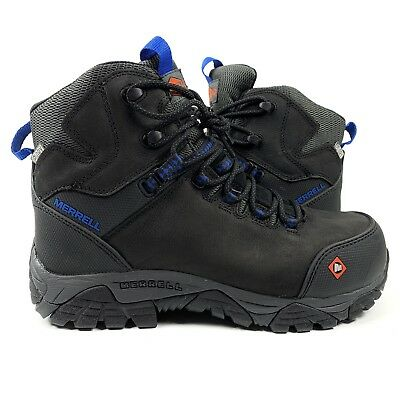 c26a999596 MERRELL MEN'S PHASERBOUND Mid Waterproof Comp Toe Work Boot Size 7.5 ...