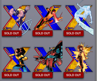 Topps Marvel Collect Card Trader X X-Men Die-Cut Series 1 Complete Set w/ Award