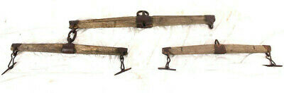 Antikes Ochsengeschirr Pferdegespann Holz u. Eisen / Antique ox narrow skis Wood