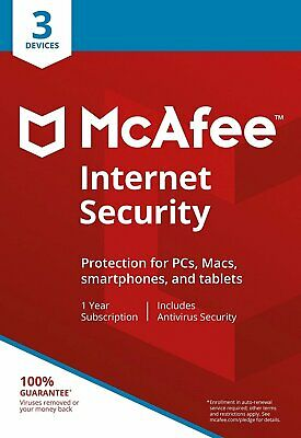 MCAFEE INTERNET SECURITY 2019 - 3 PC - Windows, Mac, Android - DOWNLOAD