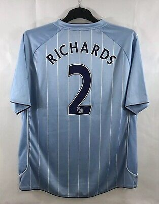 Manchester City Richards 2 Home Football Shirt 2007/08 Adults XL Le Coq Sportif