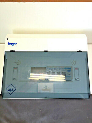Hager Garage /Shed / Workshop Consumer Unit + 3 MCB Fuse Box with 63A Rcd main