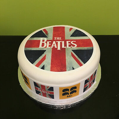 The Beatles 04 pre-cut Edible Icing Cake Topper or Ribbon