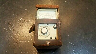 Vintage British Telecom Multimeter AVO: MMR-12D in Post Office leather case
