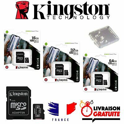 Carte micro SD Kingston Canvas Select mémoire 16 32 64 go MicroSDHC Classe 10