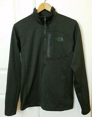 The North Face Mens Pullover Jacket Size Small Green Performance 1/4 Zip Fleece