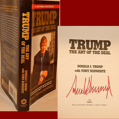"""AUTOGRAPHED """"Art of the Deal"""" Book SIGNED by PRESIDENT DONALD TRUMP *HOT!*"""