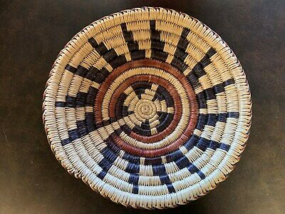 Native American Paiute Indian Woven Basket by Sue Owl - Beautiful Design