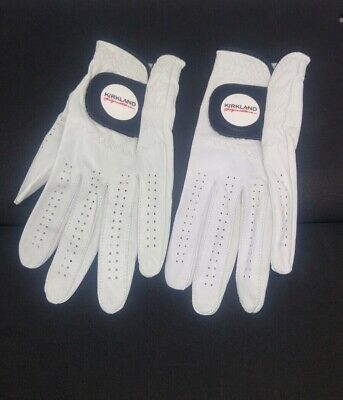 2x Kirkland Signature Mens Golf Gloves Sz M  Premium Cabretta Leather No Package
