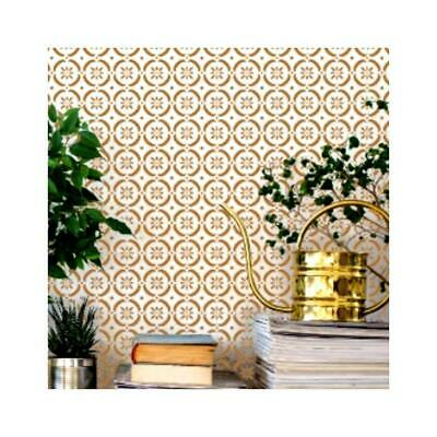 FLOWER POWER Moroccan Stencil - Furniture Wall Floor Stencil for Painting