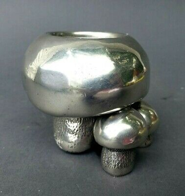 Mid-Century Modern Cast Pewter Group of Mushrooms Cipolla for Neiman Marcus