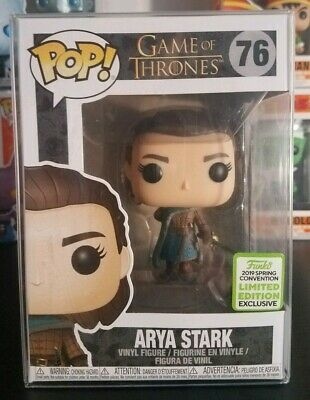 Funko Pop! Game of Thrones #76 Arya Stark ECCC 2019 Shared Boxlunch w/ protector