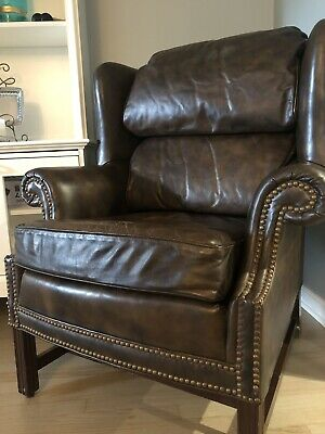 High End Vintage Leather Chair- North Hickory Furniture Company- Very Nice!