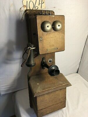 Antique Telephone Arthur Darwin DB; Split Battery Box; Hammersley Fork Pa (1064)