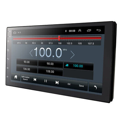 """Android 9.0 7"""" Double DIN In Dash Car Stereo Radio Player GPS Nav WiFi 4G Mirror"""