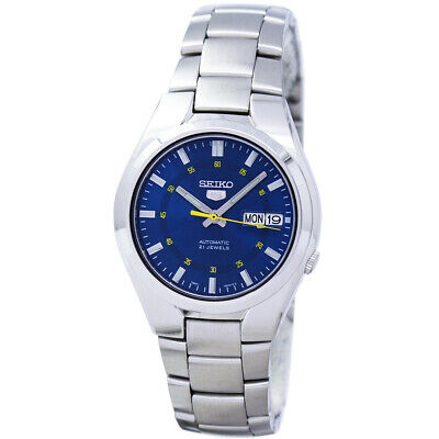 Seiko 5 Automatic Mens Analog business Silver Band SNK615K1