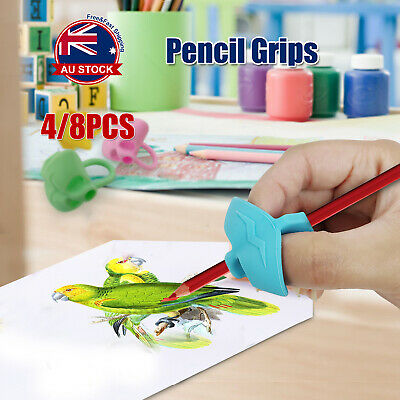 2-finger Grip Silicone Kid Baby Pen Pencil Holder Help Learning Writing Tool N