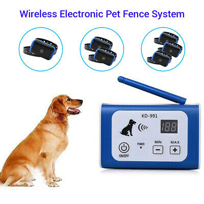 1x/2x/3x Electric Pet Containment Training Dog Fence Wireless Dog Fencing System