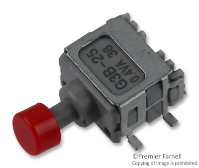 Nkk Switches-G3B25Ah-R-Xc-Switch£¬Pushbutton£¬Non-Illuminated£¬Dpdt£¬0.1A£¬Red