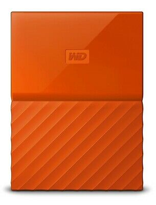 WD My Passport 2TB USB3.0 Portable Hard Drive- Orange