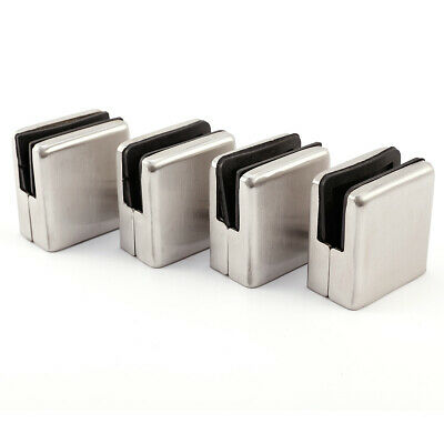 Stainless Steel Glass Holder Glass Clamp Square Stainless Steel Finish Flat Lead