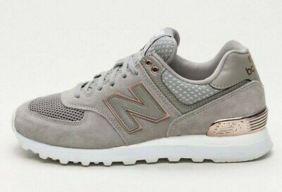 WOMEN'S NEW BALANCE 574 ROSE GOLD Grey Bronze Size 8.5