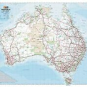 HEMA Map of Australia Laminated