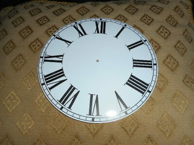 "Round Paper Clock Dial - 6 1/2"" M/T -Roman- WHITE GLOSS - Face / Parts/Spares"