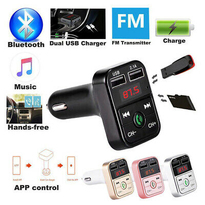 Wireless Car FM Transmitter Radio Adapter USB Charger LCD Mp3 Player Bluetooth